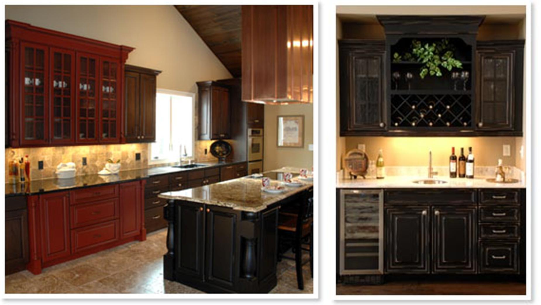 Kitchen Cabinets with Black