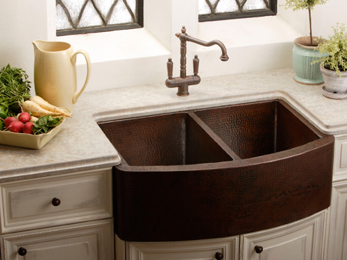 Elkay Hammered Copper Apron Front Sink Beck Allen Cabinetry