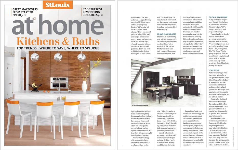 BeckAllen Cabinetry in STL At Home Mag