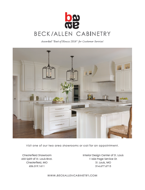 Beck/Allen Cabinetry Ad   St. Louis Magazine At Home