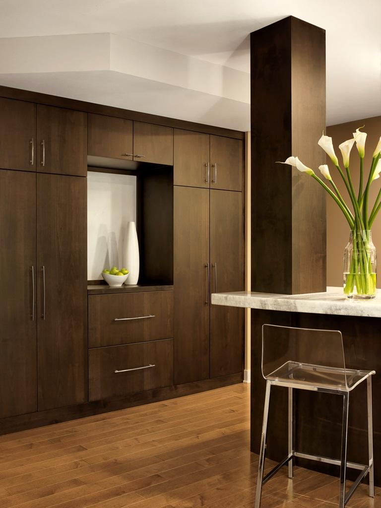 Contemporary Kitchen Storage Wall