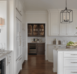 Classic Butler's Pantry with Custom Glass Doors