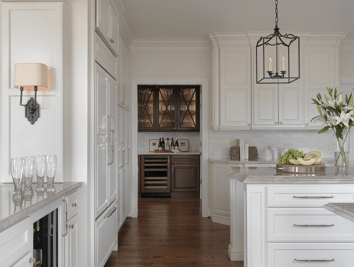 Traditional White Kitchen with a Classic Butler's Pantry - Beck/Allen Cabinetry