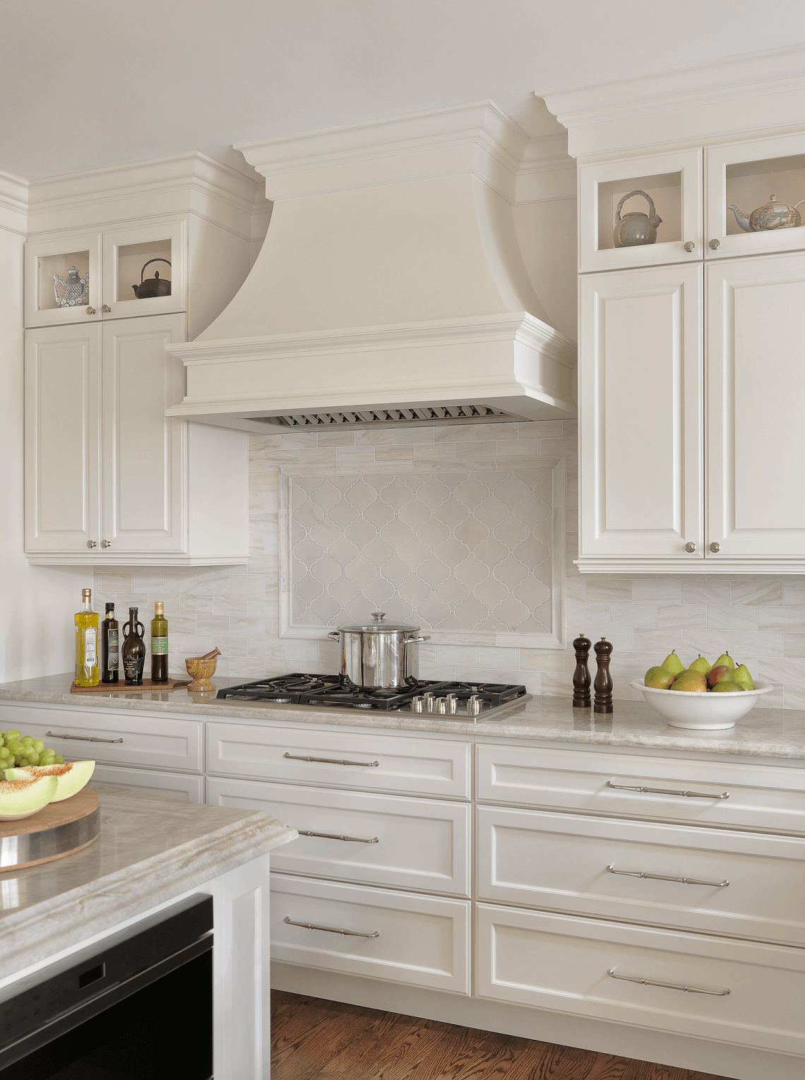 Custom White Kitchen traditional white kitchen | beck/allen cabinetry