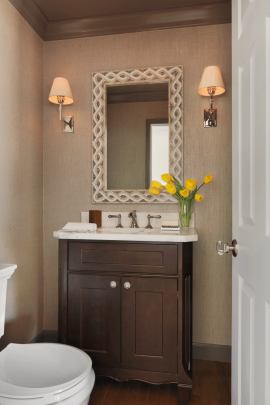 Transitional Powder Room Vanity