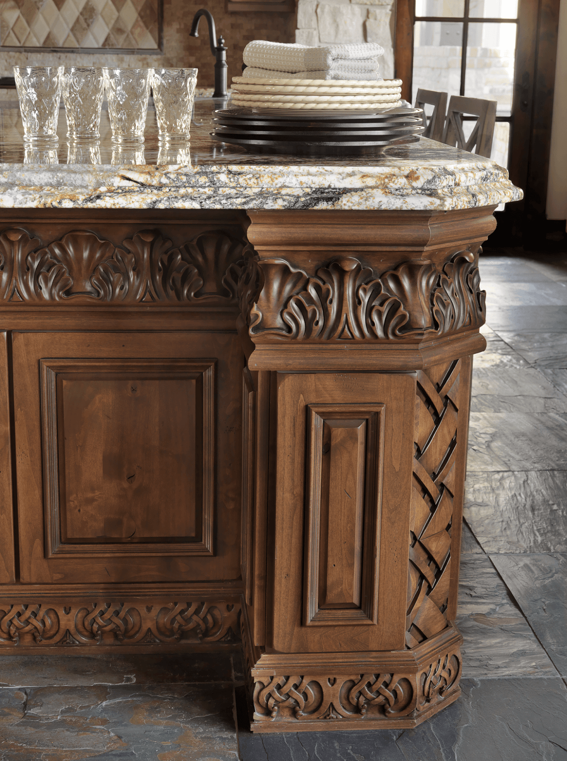 Custom Kitchen Island custom kitchen island design - beck/allen cabinetry