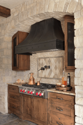 Rustic Kitchen + Custom Range Hood