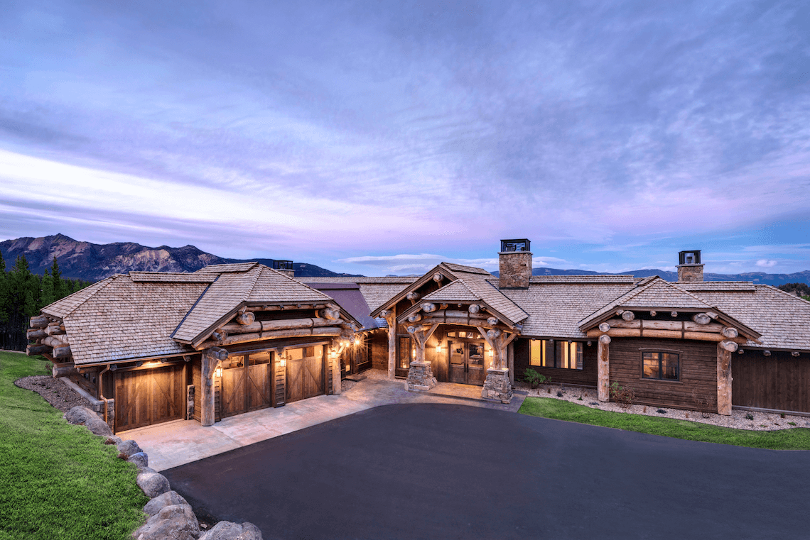 Mountain living in big sky montana beck allen cabinetry for Montana home builders