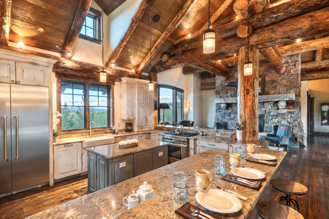 Rustic Kitchen - Distressed Painted Cabinetry by Shiloh - Beck/Allen Cabinetry in St. Louis, MO