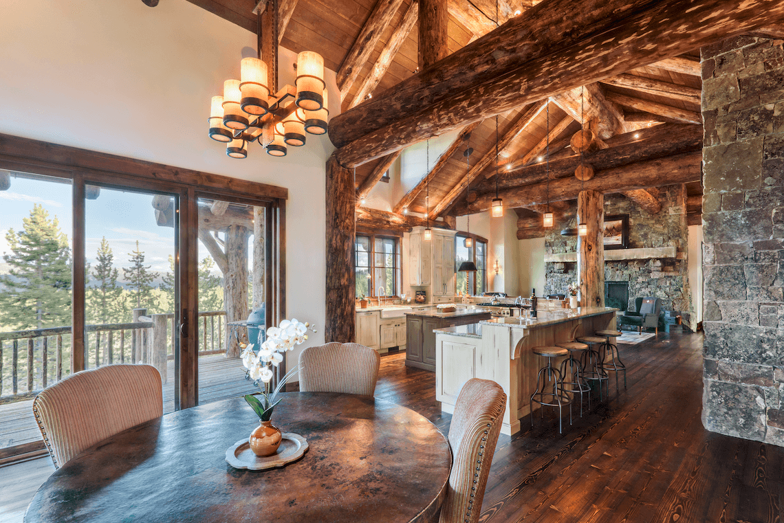 Rustic Kitchen and Breakfast Room