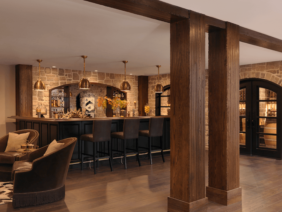 Lower Level Bar | Beck/Allen Cabinetry - Tamsin Design Group
