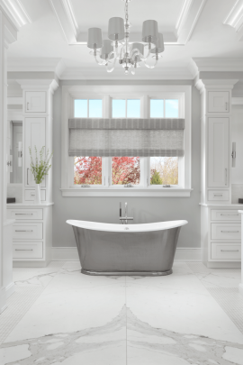 Master Bathroom with Freestanding Tub