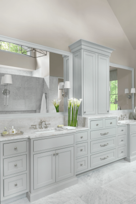White and Gray Master Bathroom