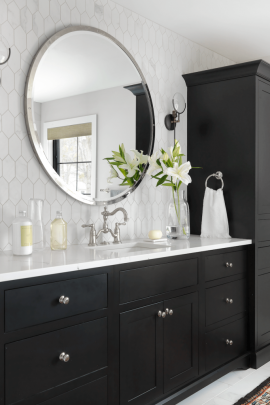 Black and White Master Bath