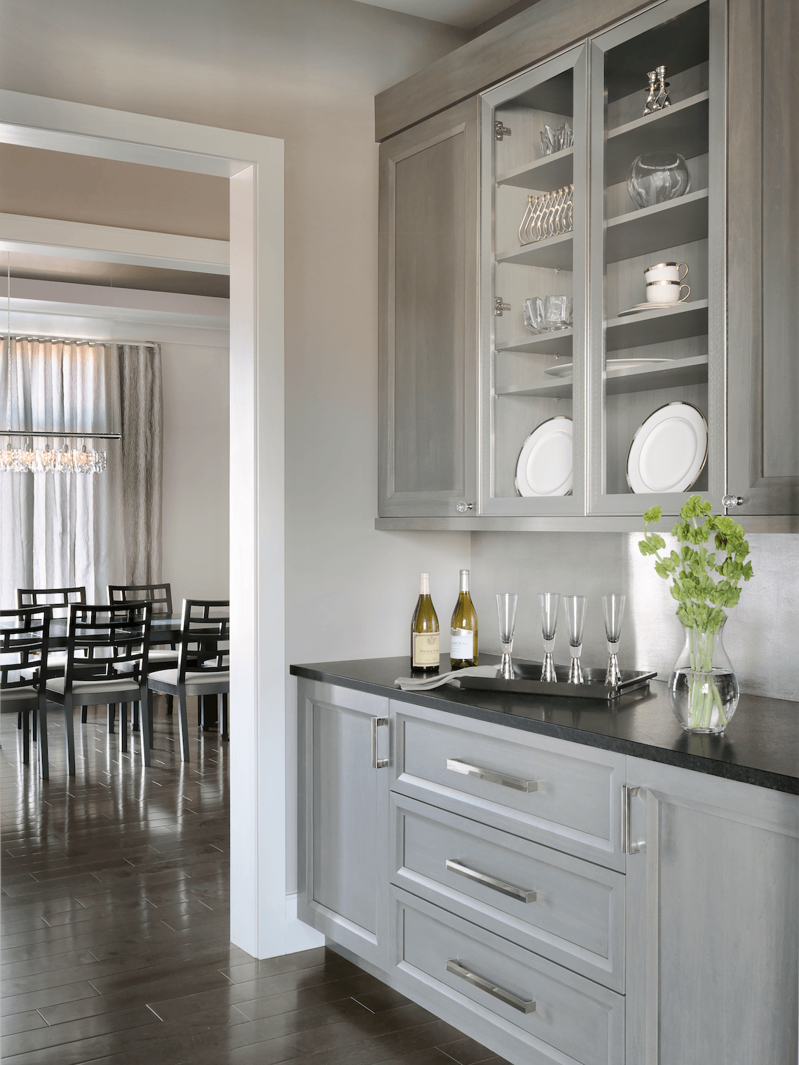 Contemporary Butler S Pantry Beck Allen Cabinetry