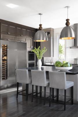 Contemporary Kitchen with Wine Storage