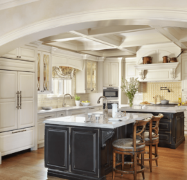 Traditional Kitchen with Two Islands