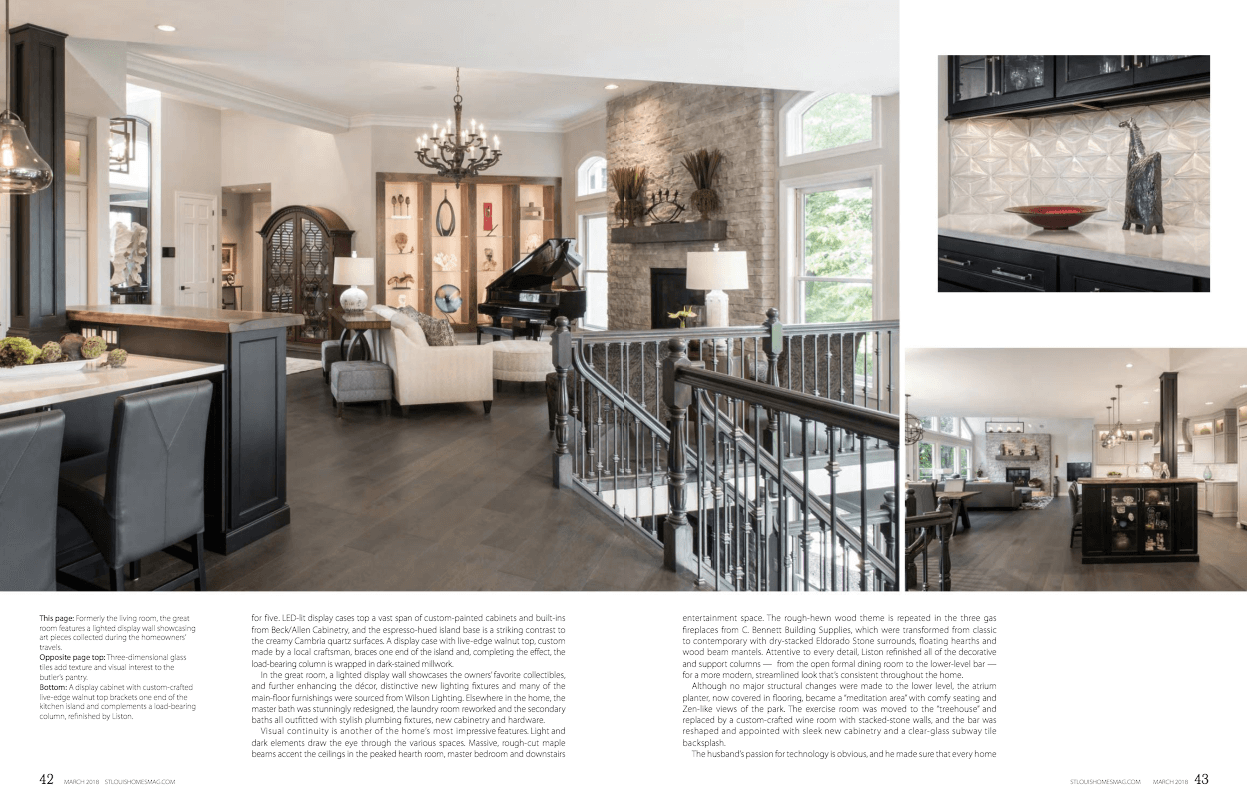 Liston Design Build in St. Louis Homes and Lifestyles