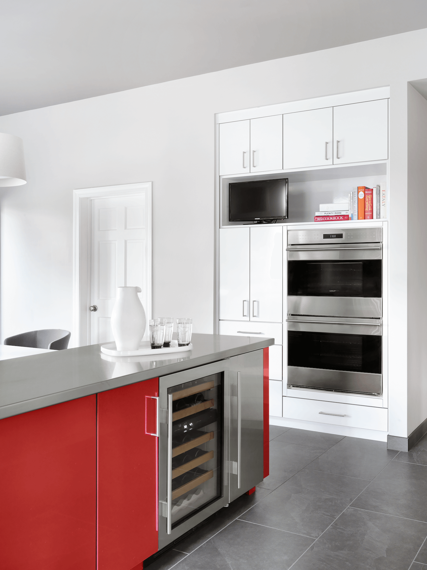 Modern Kitchen with Double Ovens - Beck/Allen Cabinetry