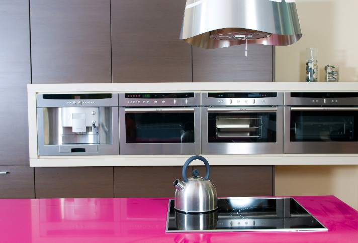 Pink Glass Beck Allen Cabinetry