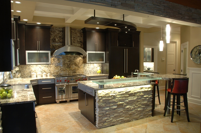 Nature Inspires A Contemporary Kitchen Beck Allen Cabinetry