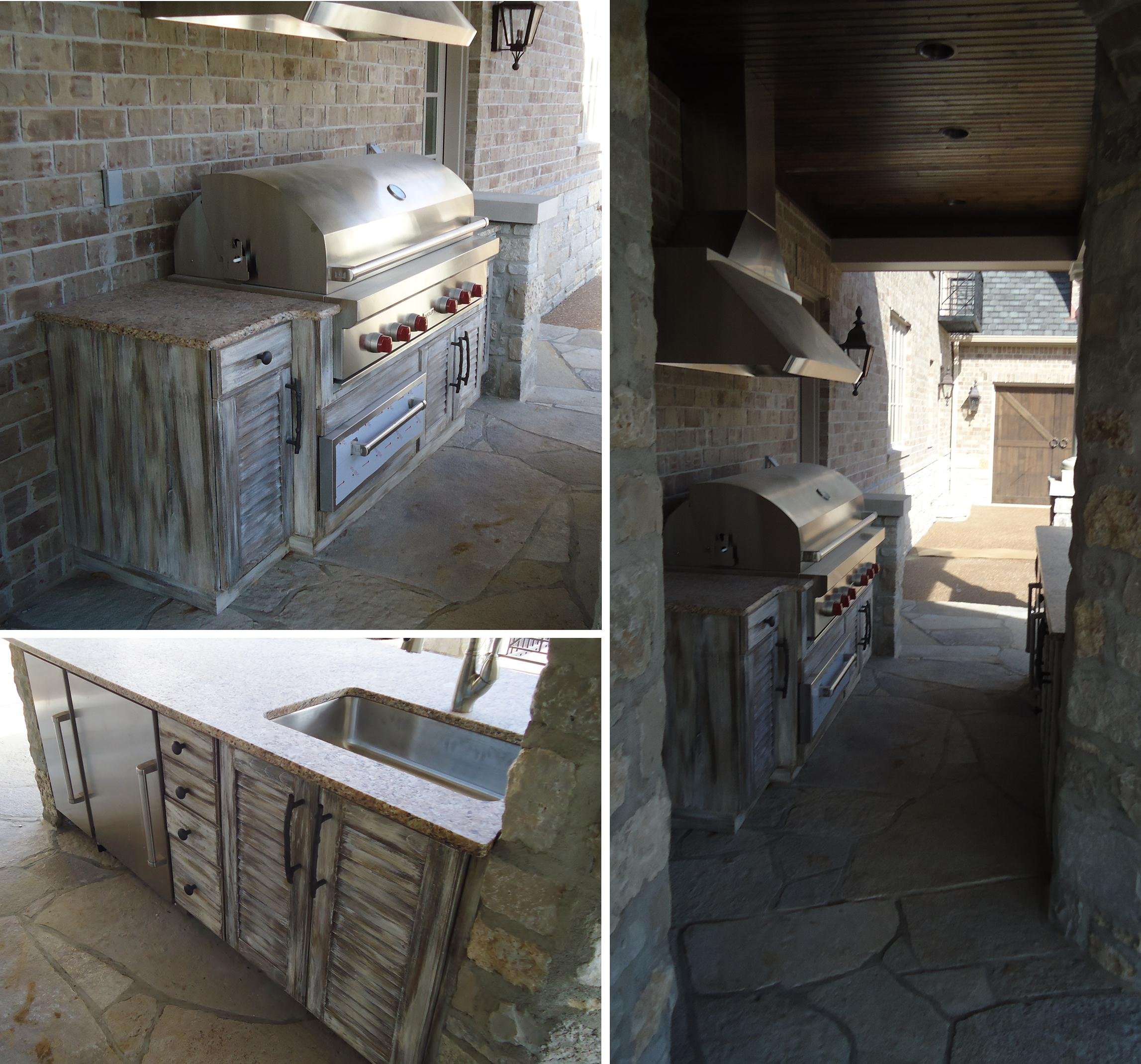 Rustic Outdoor Kitchen Cabinetry - Beck/Allen Cabinetry