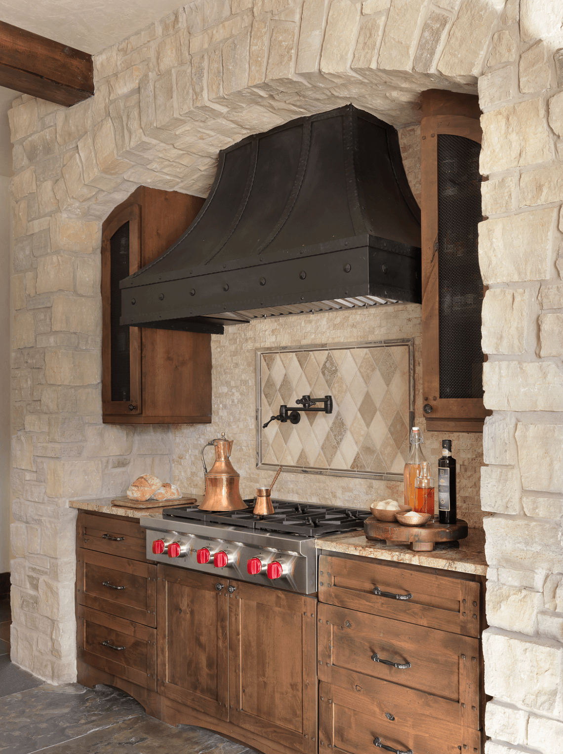 Rustic Kitchen Custom Range Hood Beck Allen Cabinetry