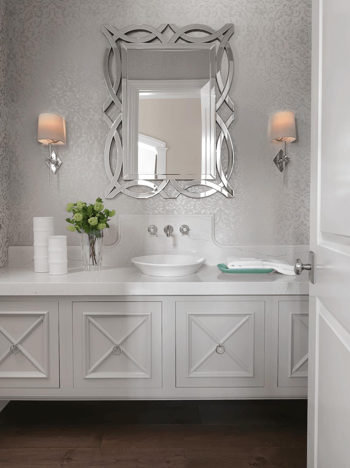 Elegant Powder Room Beck Allen Cabinetry
