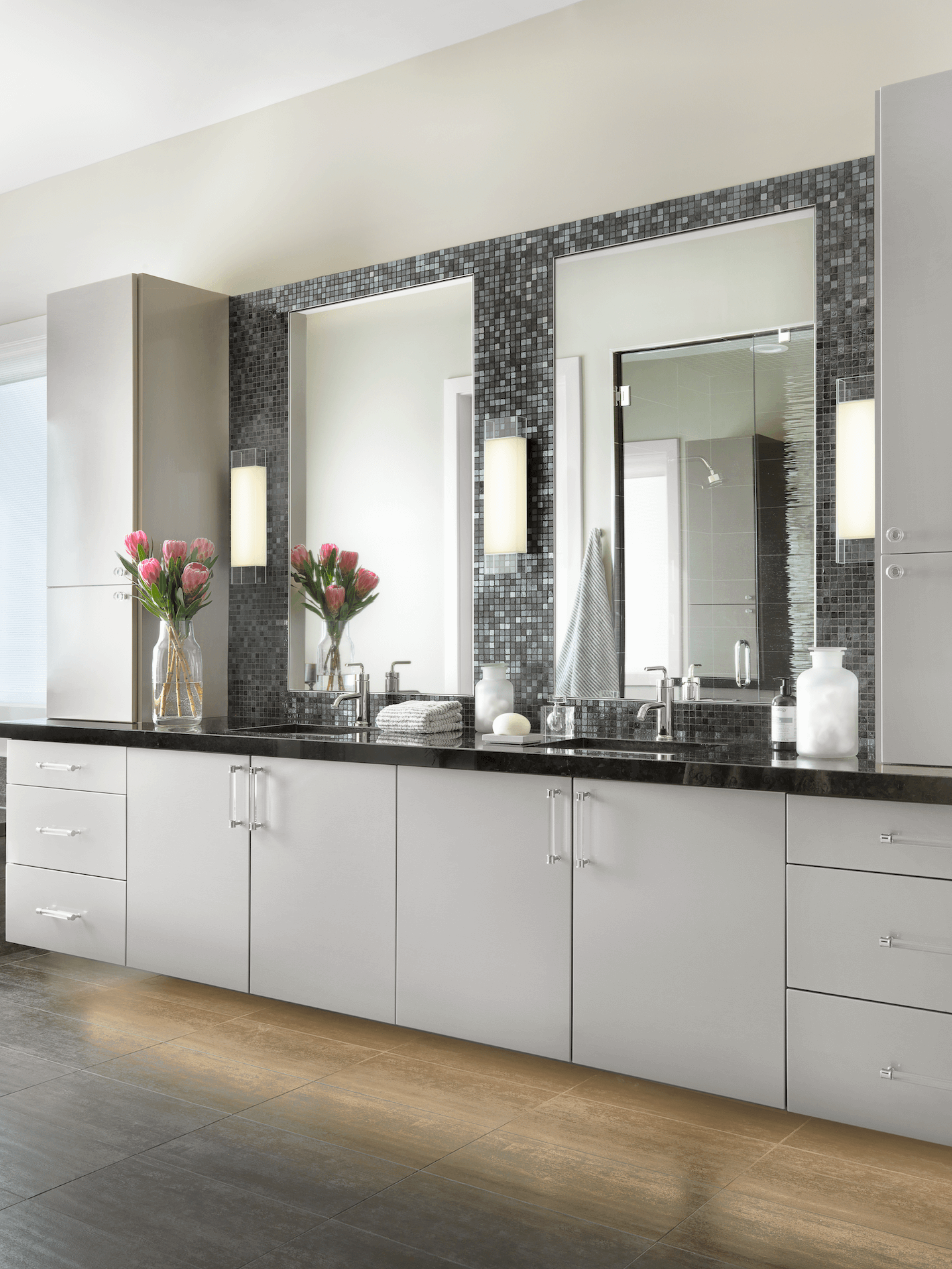 Contemporary Master Bathroom Beck Allen Cabinetry